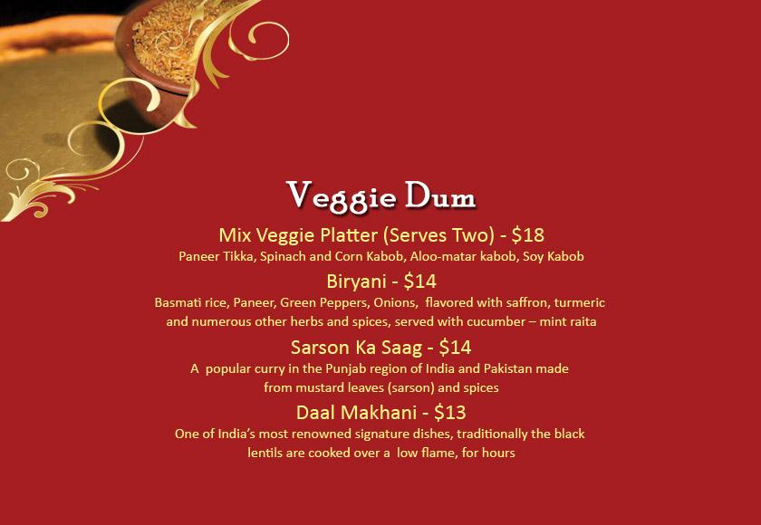 Diya Tysons Menu